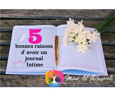 5 Bonnes raisons d'avoir un journal intime blog art-thérapeute maincy seine et marne