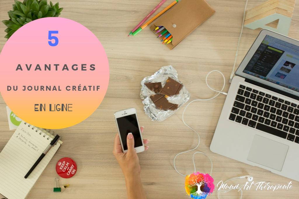 5 avantages du journal créatif en ligne Formation en ligne journal créatif maud art-thérapeute Maincy Seine et Marne