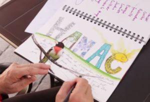 vidéo présentation exercice Anne-Marie Jobin Journal créatif, Zoom sur l'été Maud-art-thérapeute maincy 77
