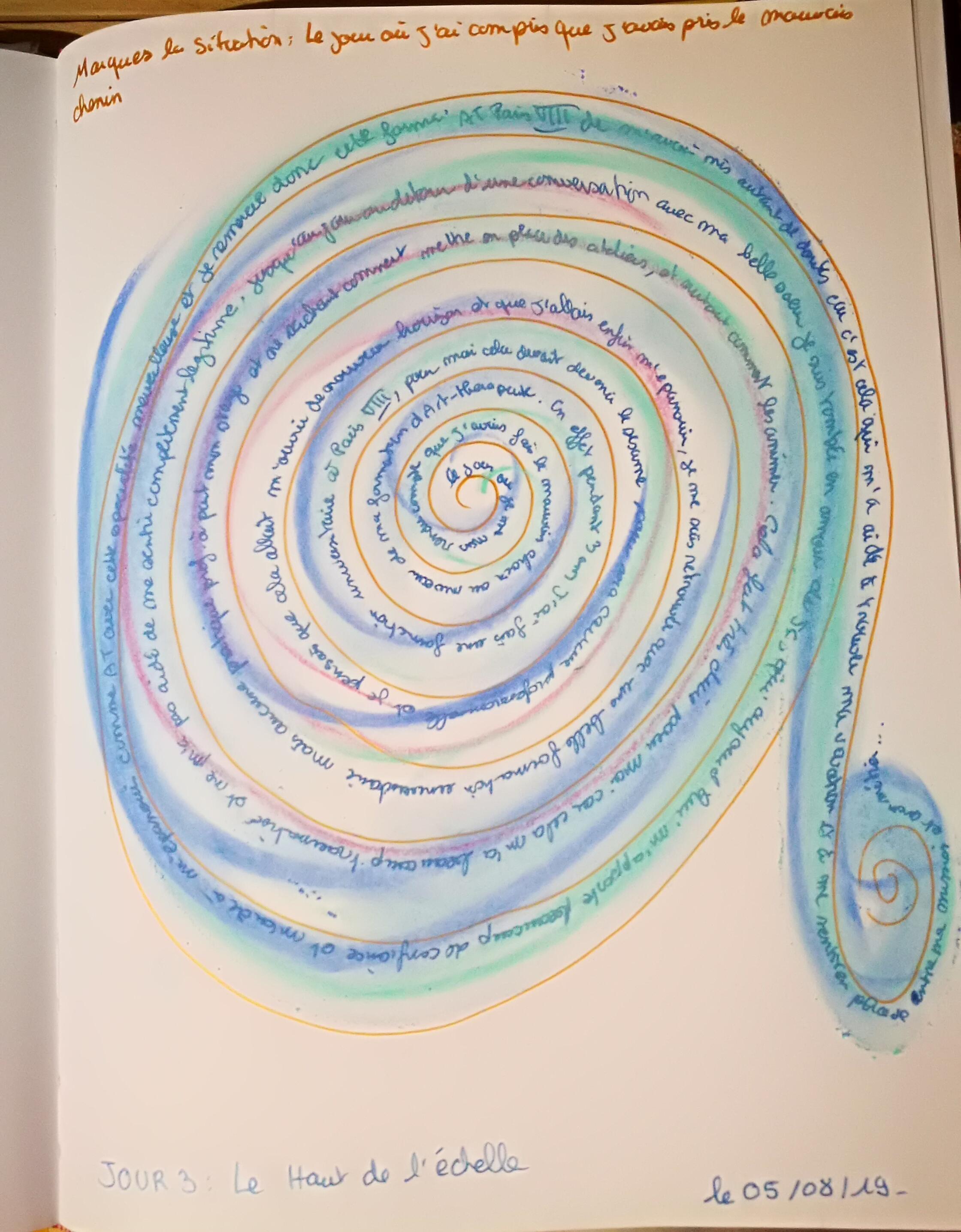 jour 3 le haut de l'échelle journal créatif défi des 100 jours: mission de vie maud-art-therapeute maincy
