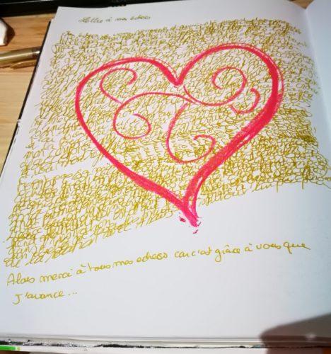 écriture mélée lettre à mes echces défi 100 jour mission de vie journal créatif maud art-thérapeute maincy 77950